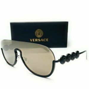 Versace Women's Matte Black and Brown Sunglasses!